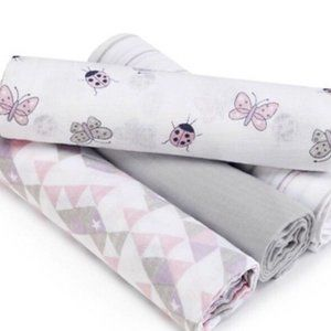 Aden and Anais Baby Girl Butterfly Swaddle Blanket